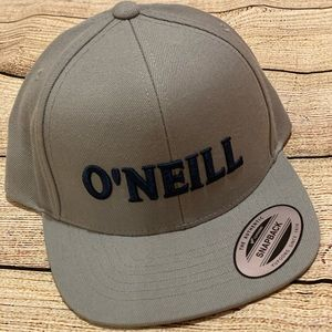 New O'Neill grey SnapBack hat ball cap navy boys
